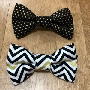 Other - Set of 2 bow ties. Clip on style.